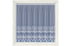 Cambridge white embroidered voile net curtain