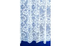 Cardiff white lace curtain designed by filigree of nottingham
