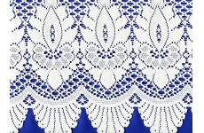 LIBERTY CREAM LACE CAFE CURTAIN 11 INCH DROP price is per metre pic shows the design in white