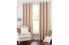Buckingham wool check eyelet curtains 9 colours to choose