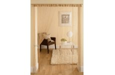LATTE STRING CURTAINS WITH SMALL SQUARE BEADS PRICE PER PAIR