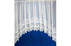 Cambridge white embroidered voile jardiniere