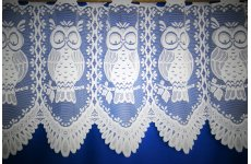 Barnsley owl white cafe curtain