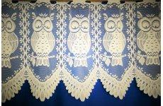 Barnsley owls cream cafe curtain