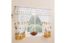 WAREHAM YELLOW WINDOW WITH ATTACHED VALANCE