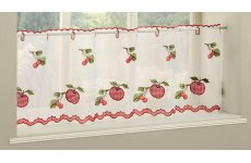WAREHAM RED CAFE CURTAIN PANEL