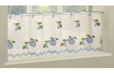WAREHAM  BLUE CAFE CURTAIN PANEL 140CM WIDE