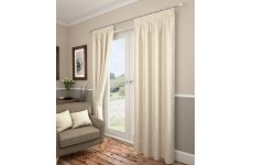 Preston cream pencil pleat curtains