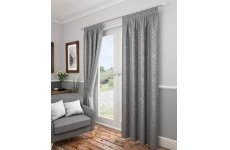 Preston silver pencil pleat curtains