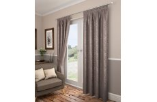 Preston taupe pencil pleat curtains