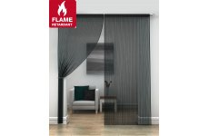 FR Treated Black  string curtains priced per pair