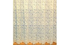 PAMELA CREAM NET CURTAIN: priced per metre