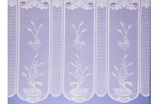 SWAN CAFE CURTAIN WHITE OR CREAM: priced per metre