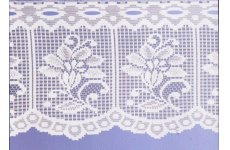 JENNY CAFE CURTAIN: priced per metre white or cream