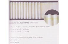 3 INCH RUFFLETTE REGIS PENCIL PLEAT TAPE : price per metre