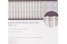 3 INCH BUDGET  PENCIL PLEAT TAPE:price per metre