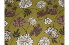 DUBAI 54 INCH WIDE FABRIC OLIVE COLOUR PRICE IS PER METRE ONLY 13 MTS LEFT ON ROLL