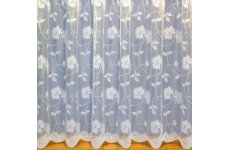 MILAN WHITE NET CURTAIN: priced per metre