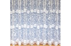 DEBBIE WHITE  NET CURTAIN: priced per metre