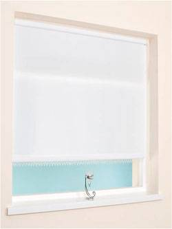 Beaded Edge Roller Blind White Or Natural Net Curtain 2