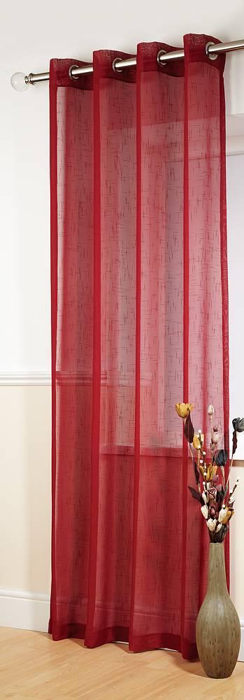 Banbury Red Linen Look Panel