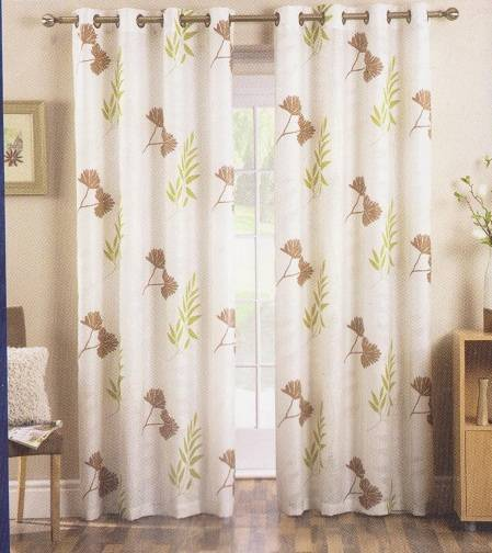 ADA EYELET DRESS CURTAIN IN VOILE PATIO DOOR CURTAINS Net Curtain