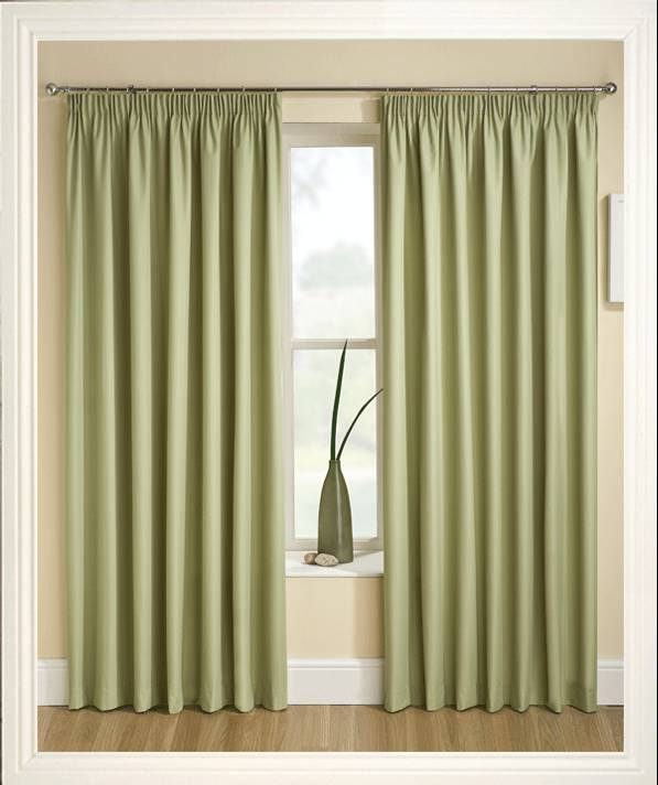 Tranquility Green Thermal Curtains Net Curtain 2 Curtains