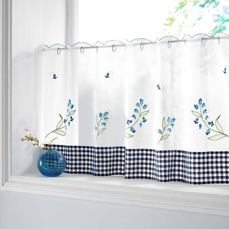 Kitchen Net Curtains: Bluebell Kitchen Textiles