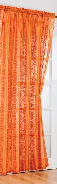 Richmond Orange Voile Panel 60 S Inspired Each Panel 142cm