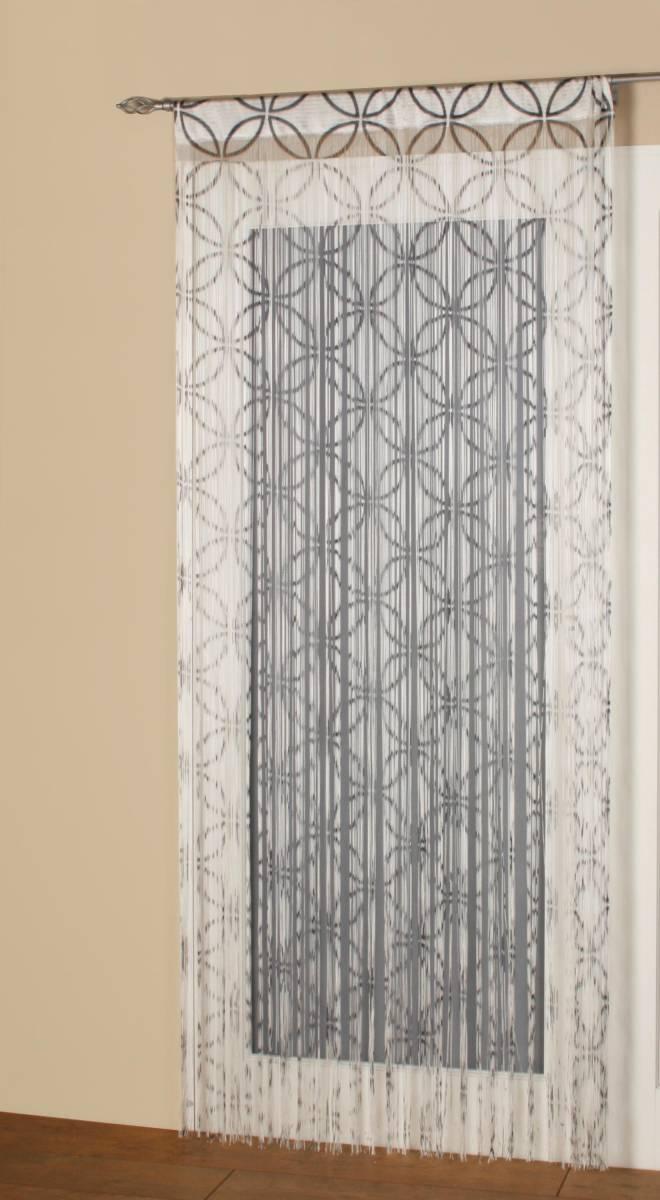Salt String Curtain Panel 90cm Wide Net Curtain 2 Curtains