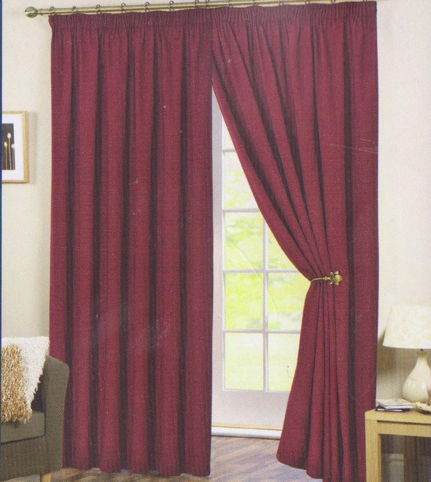 perth red ready made curtains net curtain 2 curtains. Black Bedroom Furniture Sets. Home Design Ideas