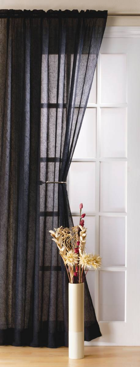 Fiji Black Curtain Panel