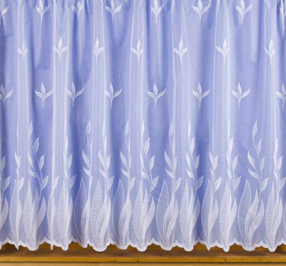 Cindy white net curtain priced per metre net curtain 2 for Window net curtain