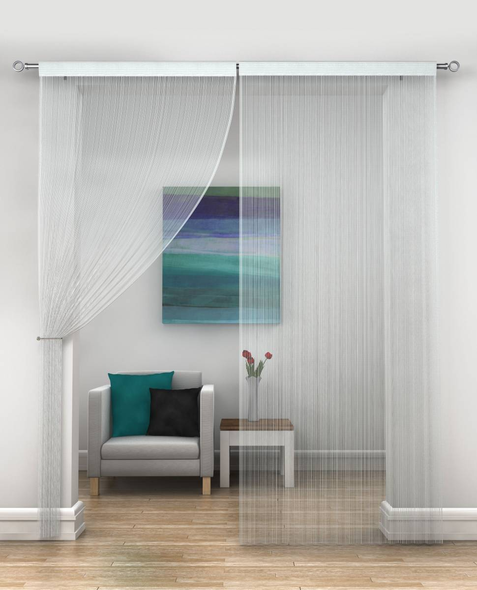 White String Curtains Priced Per Pair Each Panel 230cm